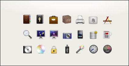 The Bible, zip, cd, database, ipone, switch, usb