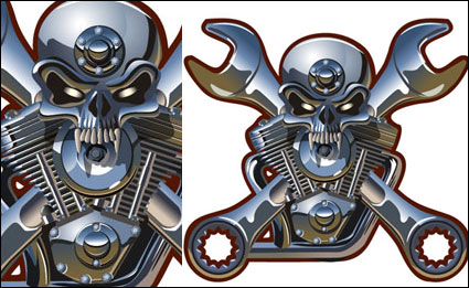 Link toMetal skull vector