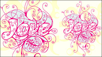 Link toLove pattern vector material