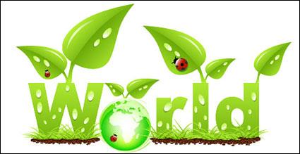 Link toVector ladybug leaves the grass grow green earth