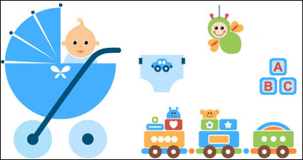 Link toBaby toys vector