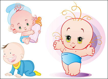 Link toCute baby vector material