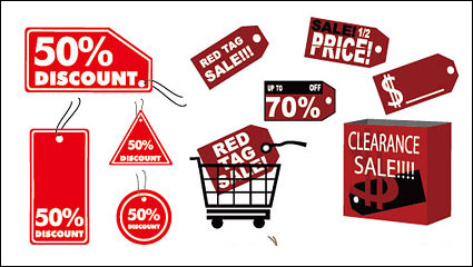 Link toDiscount sales label icon vector material
