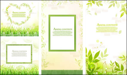 Link toLeaves, grass lace vector