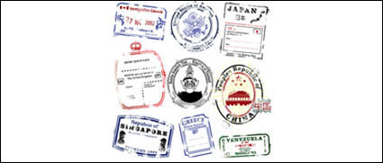 Link toSeveral countries postmark vector material