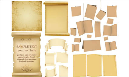 Link toOld paper, kraft paper, old books of the vector material