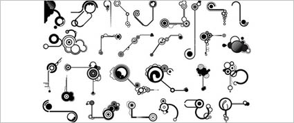 Link toSeries of black and white design elements vector material -11 (line shape)