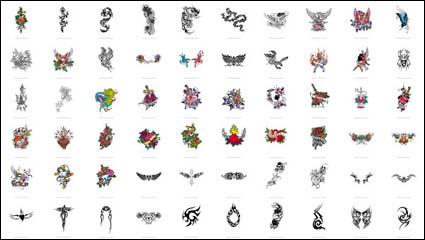 Link toSwords, dragons, butterflies, roses, crosses, phoenix, eagles, totem vector