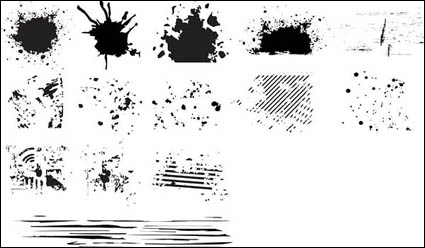 Link toSeries of black and white design elements vector material -6 (ink blot)
