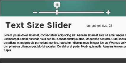 Link toJquery page article based on the font size adjustment (js + css)