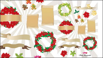 Link toChristmas element vector material