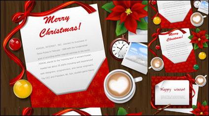 Link toChristmas greeting cards desktop vector material