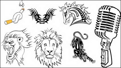 Link toTotem, tattoos, cigarettes, horse, lionhead, leopard vector