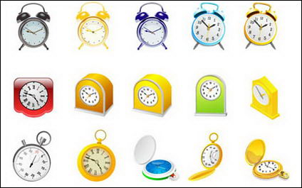 Link toAlarm clock, clock and stopwatch vector