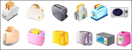Link toToaster, microwave ovens, electric cookers vector