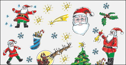 Link toHand-painted christmas cartoon vector