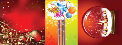 Link toSnow, star, decorative balls, glass ball, crystal ball vector