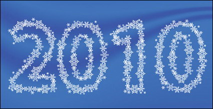Link toSnowflake vector material consisting of 2010