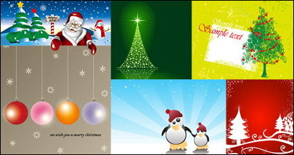 Link toSnow, road signs, bulletin boards, star, penguins vector