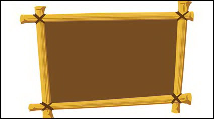 Link toWooden frame vector material