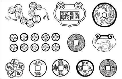 Link toChinese coins vector material