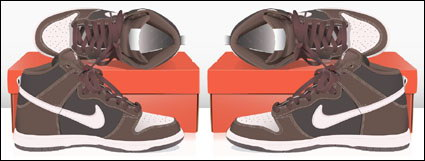 Link toNike sports shoes vector