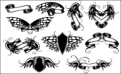 Link toWings, ribbons, butterfly vector material