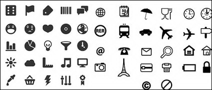 Link toUtility marking of small icons vector