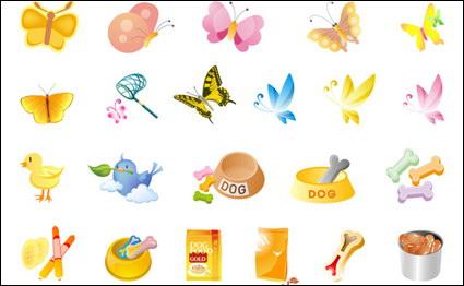 Link toButterflies, pet food, chicken vector