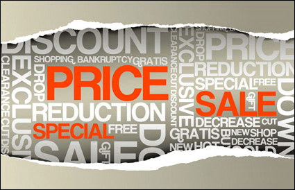 Link toPaper tear sale, price vector