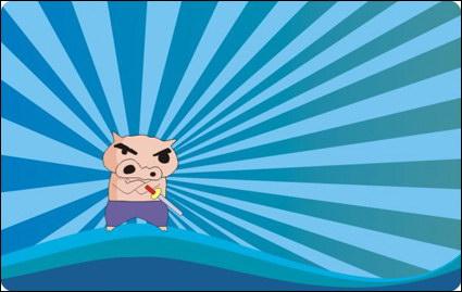 Link toPig cartoon vector background material