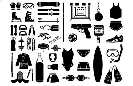 Link toVarious sketch elements of vector material - sports equipment, equipment type (51 elements)