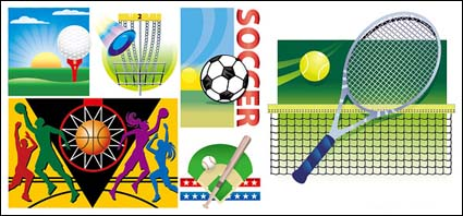 Link toVector illustration of various sports materials