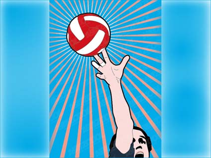 Link toVolleyball vector material