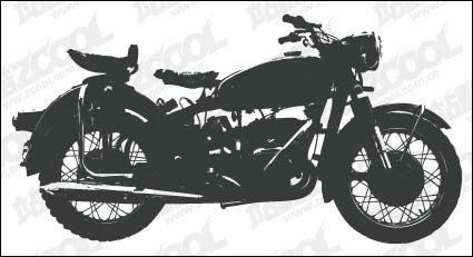 Link toMotorcycle silhouettes vector material