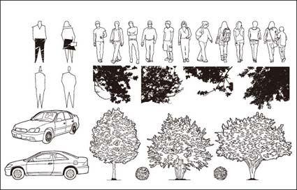 Link toCars, trees, vector