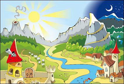 Link toThe sun, moon, volcanoes, castles, sailing