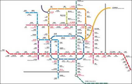 Link toBeijing subway transportation vectors