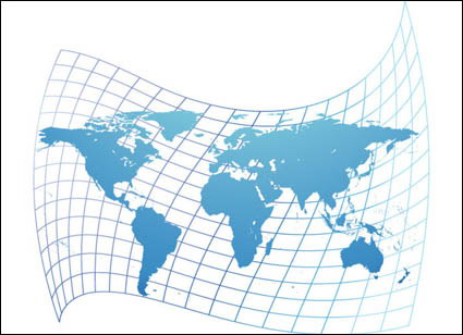 world map vector free download. Distorted map of the world