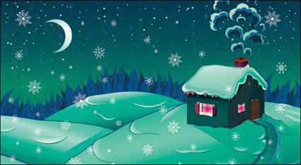 Link toCartoon snow moonlight
