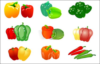 Link toVegetable vector - pepper