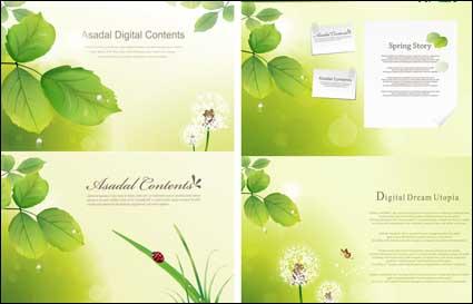 Link toLeaves, dandelion, grass, ladybug