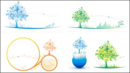 Link toColorful tree icon soft color vector