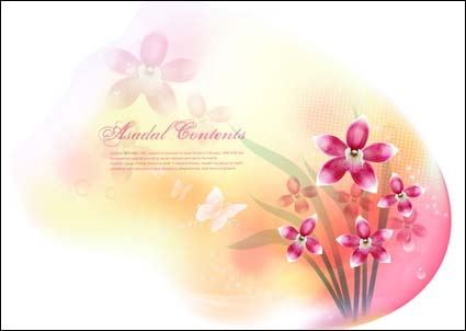 Link toVector fantasy flower material -13