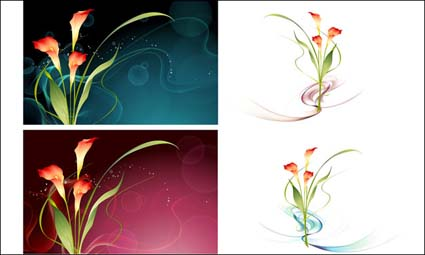 Link toVector fantasy flower material -15