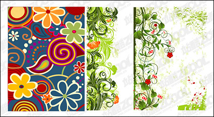 Link toHand-painted patterns vector material