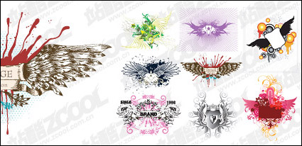 Link toTrends and patterns vector material wings