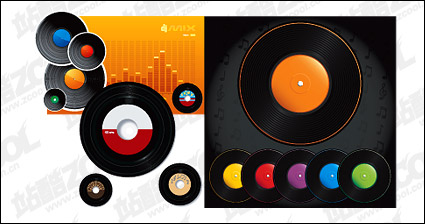 Link toVector color vinyl disc material