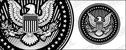 Link toEuropean and american eagle pictorial style circular vector material