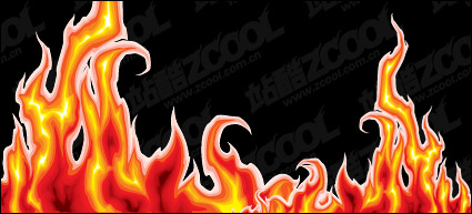 Link toCool flame vector material